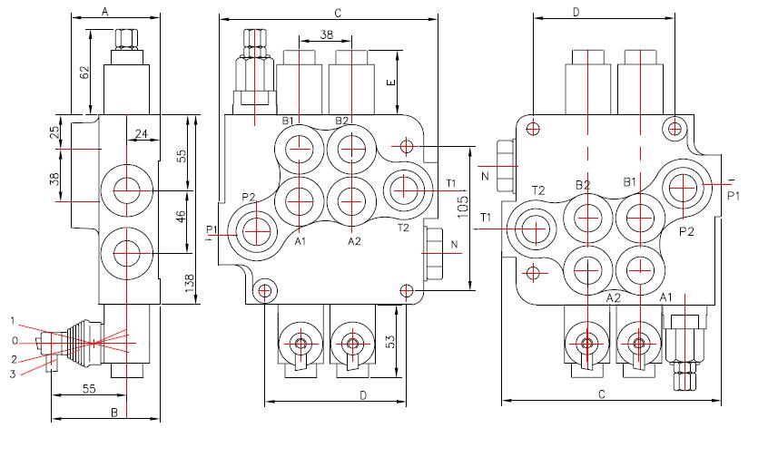 схема: распределитель Р 80